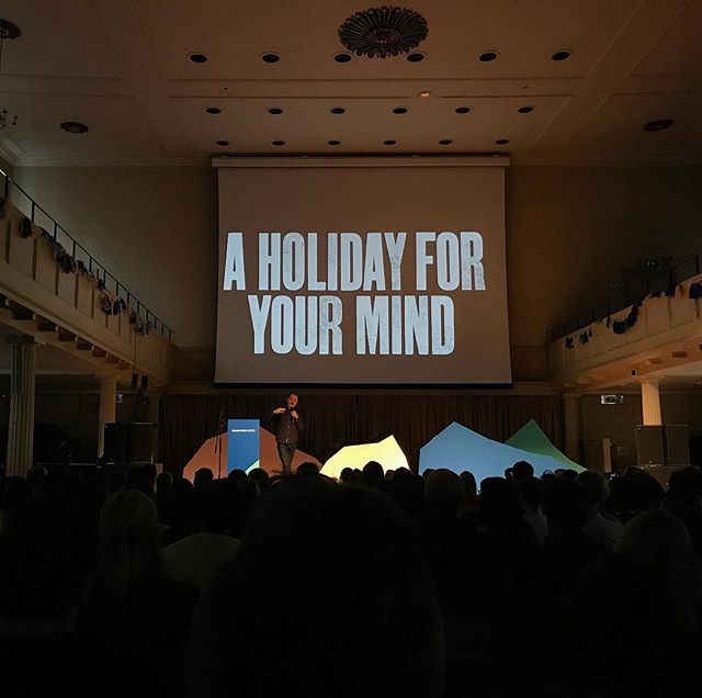 Anthony Burrill at Something Good last week. Wishing I was back in sunny Bristol today.